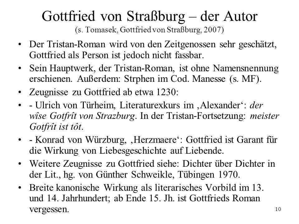 Gottfried von Straßburg – der Autor (s