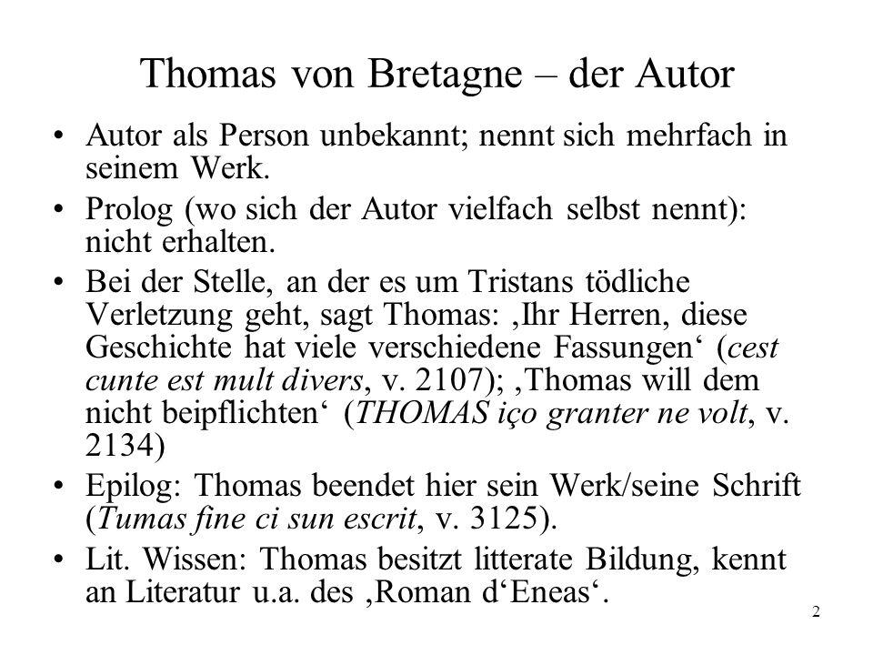 Thomas von Bretagne – der Autor