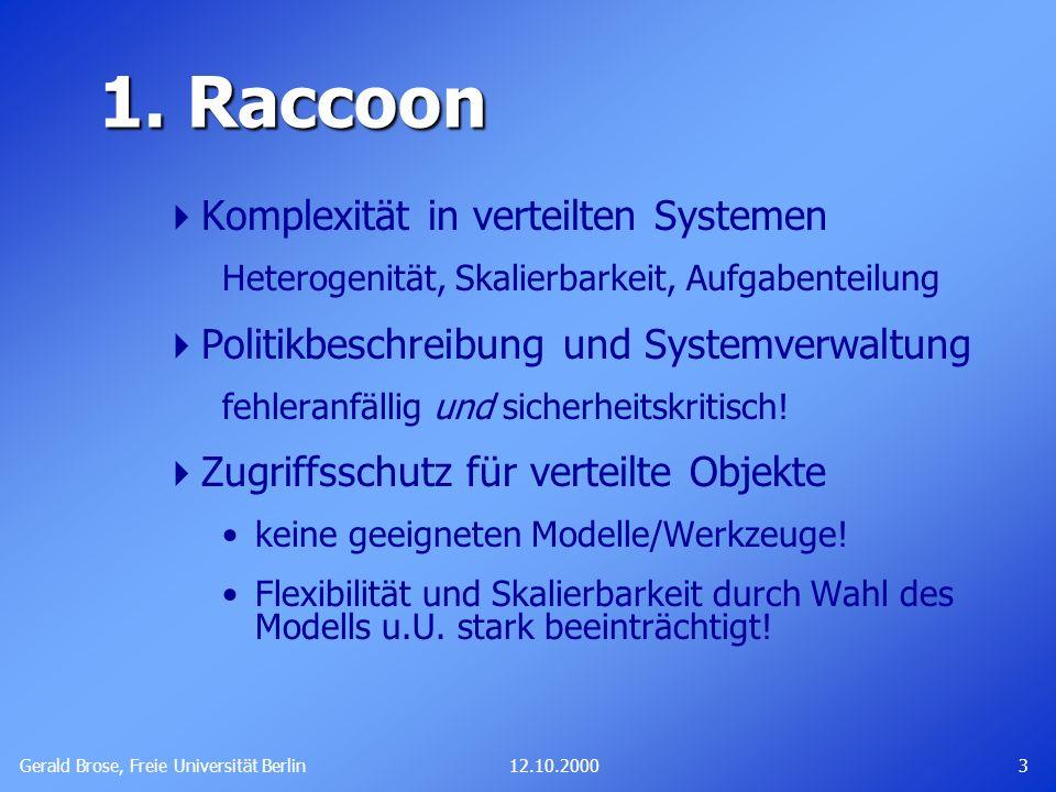 1. Raccoon Komplexität in verteilten Systemen