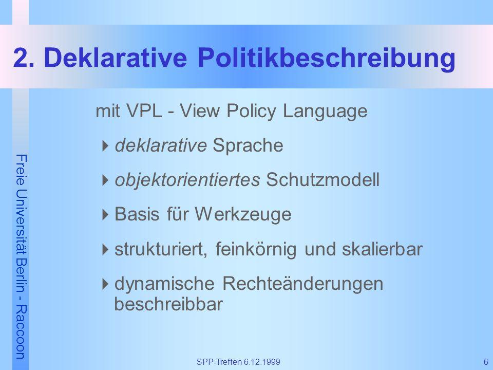 2. Deklarative Politikbeschreibung