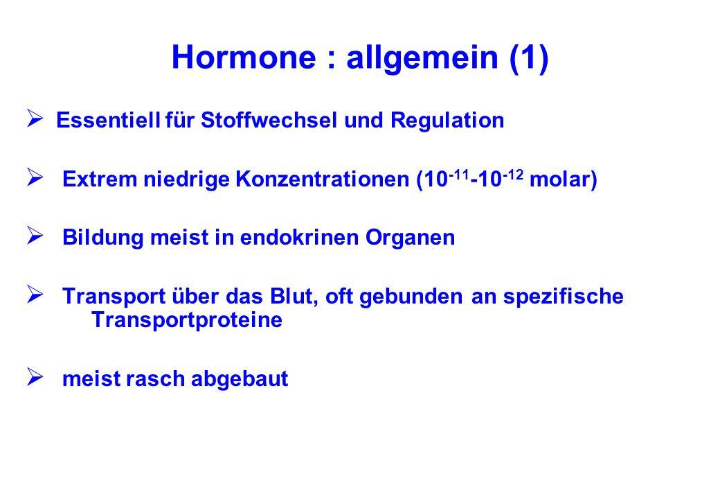 Hormone : allgemein (1) Essentiell für Stoffwechsel und Regulation