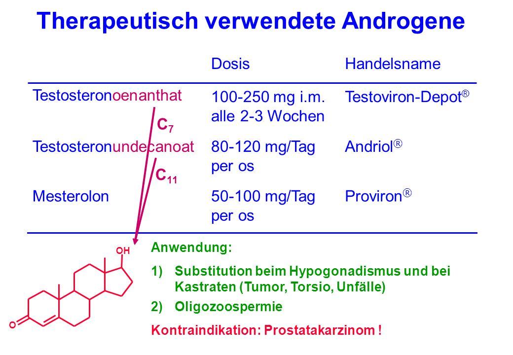 Therapeutisch verwendete Androgene