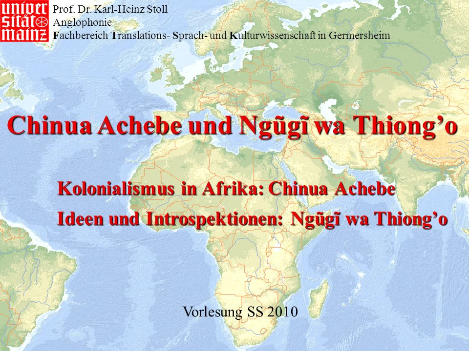 Chinua Achebe und Ngũgĩ wa Thiong'o