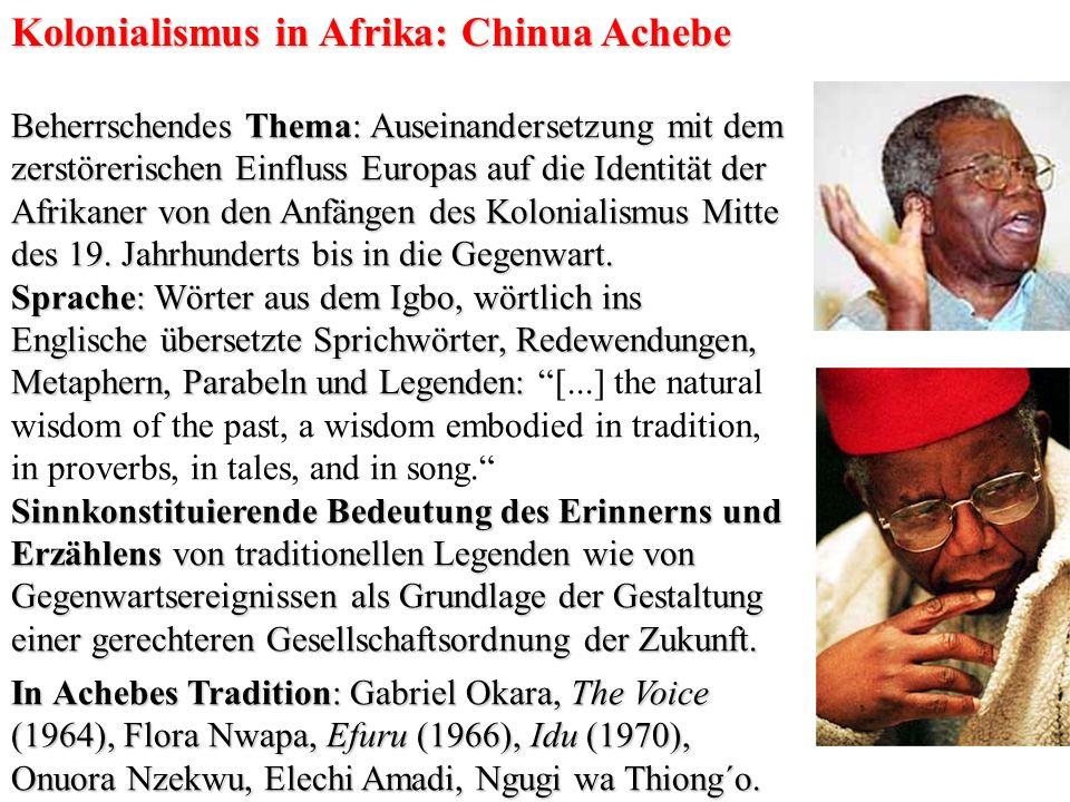 Kolonialismus in Afrika: Chinua Achebe