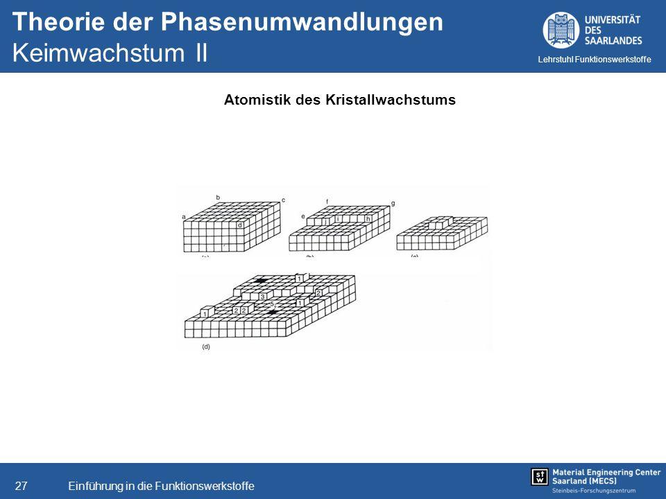 Theorie der Phasenumwandlungen Keimwachstum II