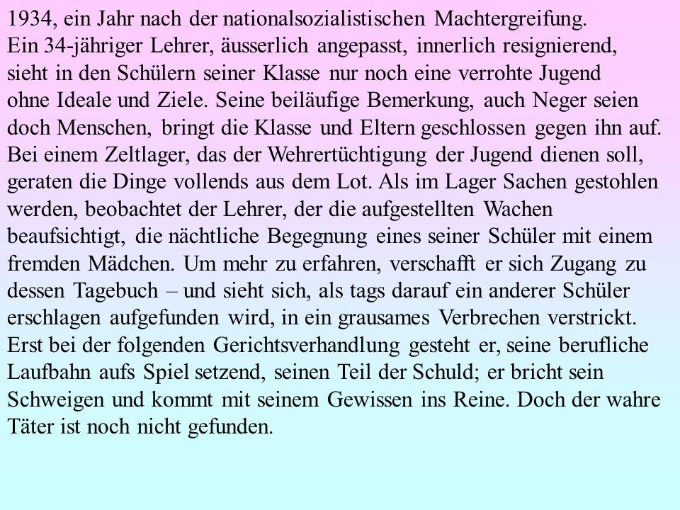 1934, ein Jahr nach der nationalsozialistischen Machtergreifung.