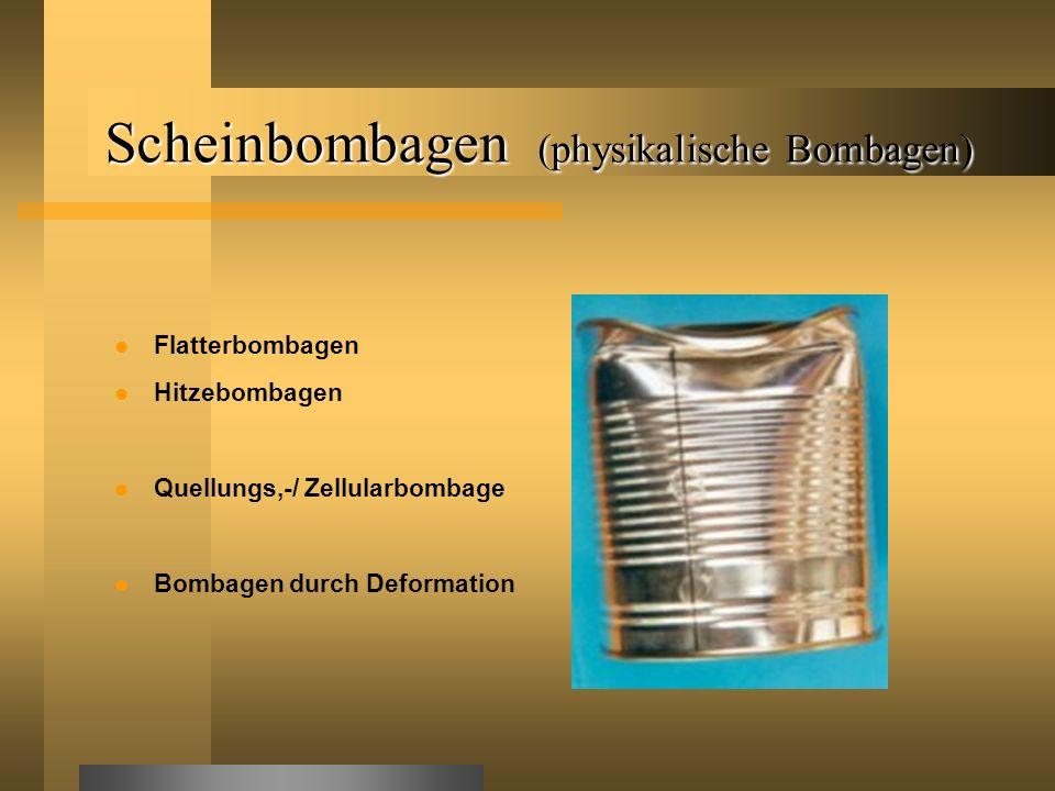 Scheinbombagen (physikalische Bombagen)