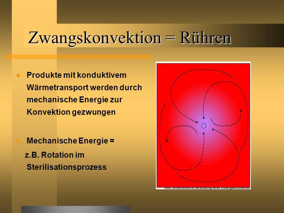 Zwangskonvektion = Rühren
