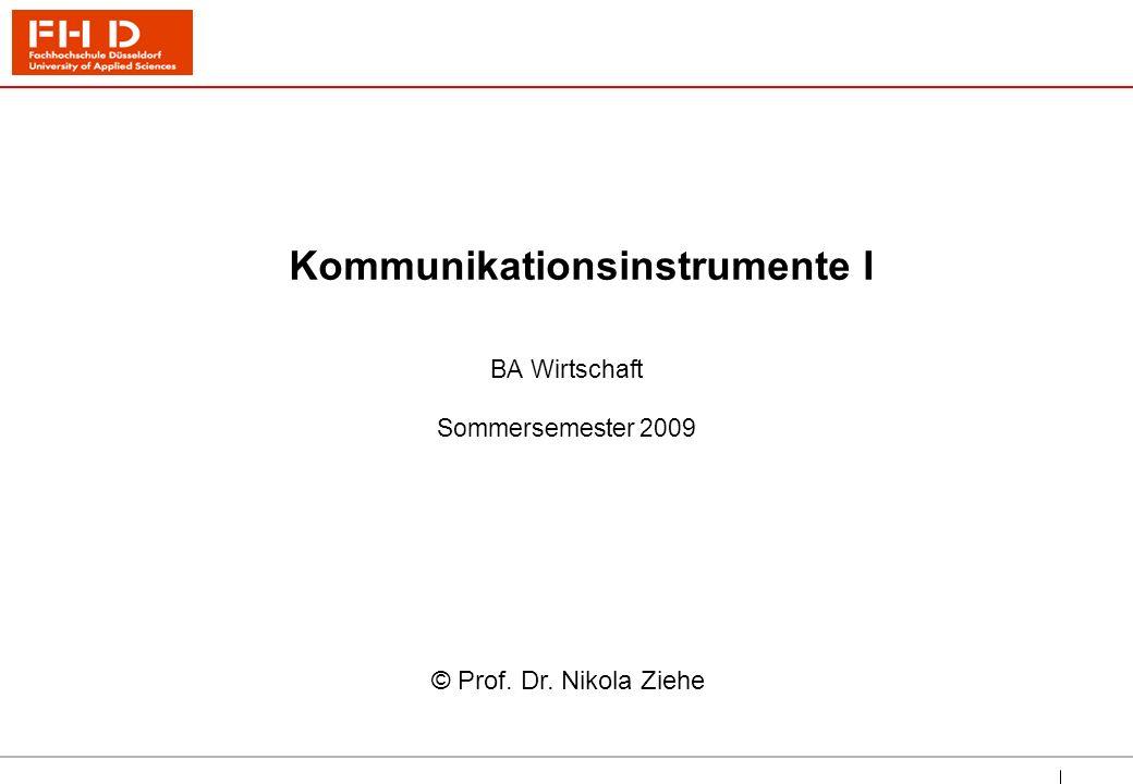 Kommunikationsinstrumente I