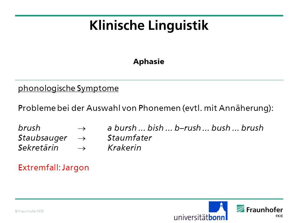 Klinische Linguistik phonologische Symptome