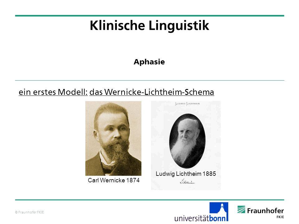 Klinische Linguistik ein erstes Modell: das Wernicke-Lichtheim-Schema