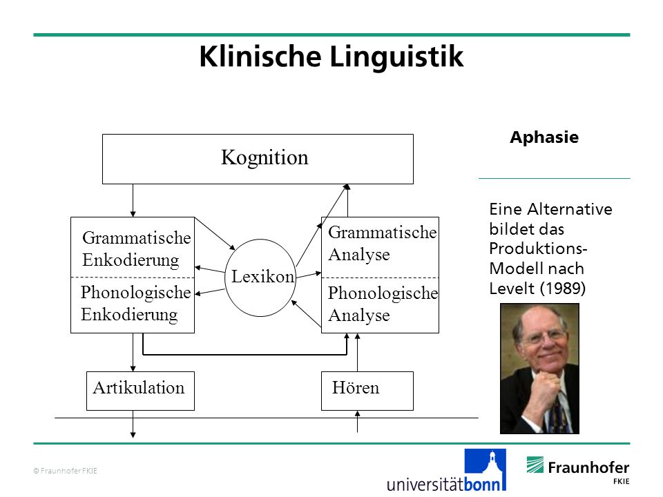 Klinische Linguistik Kognition Grammatische Analyse Grammatische