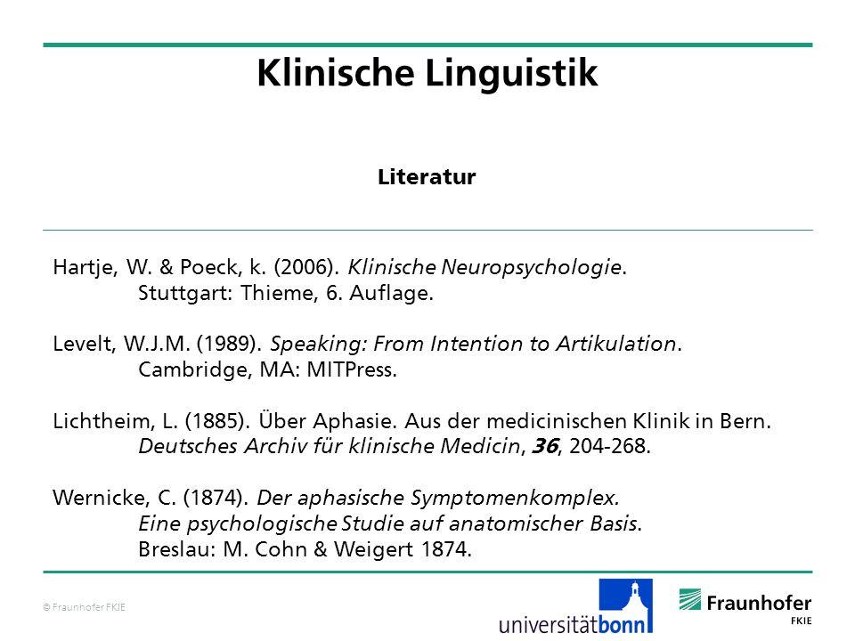 Klinische Linguistik Literatur
