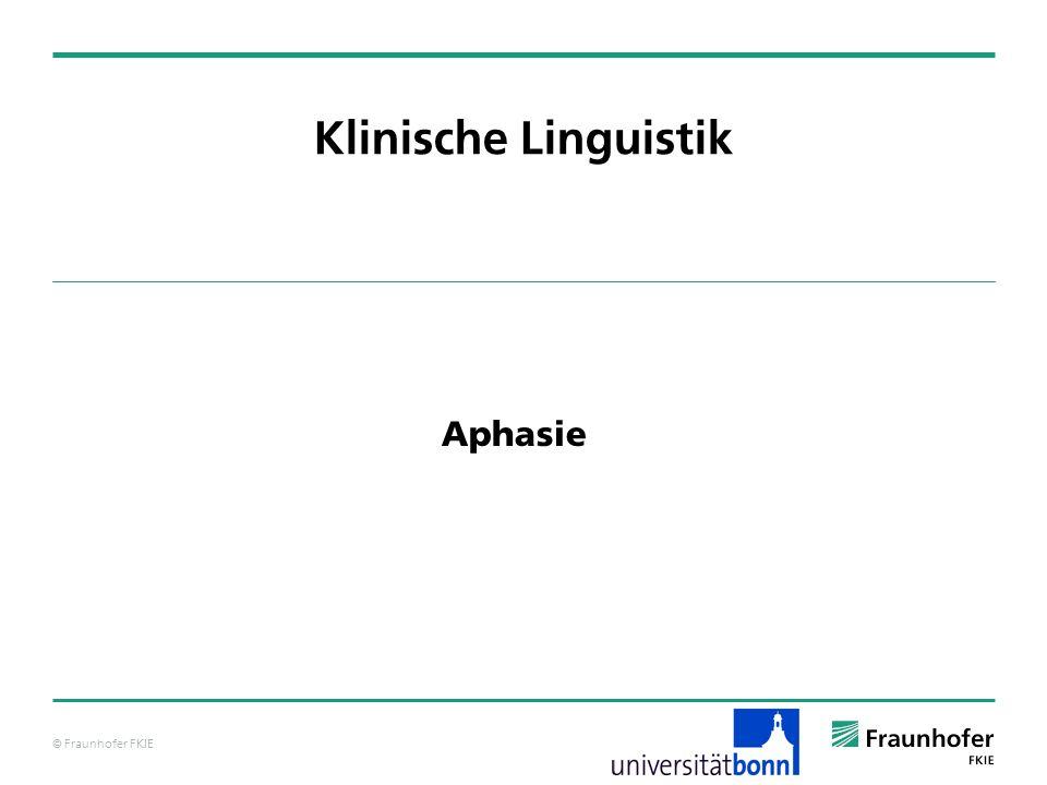 Klinische Linguistik Aphasie