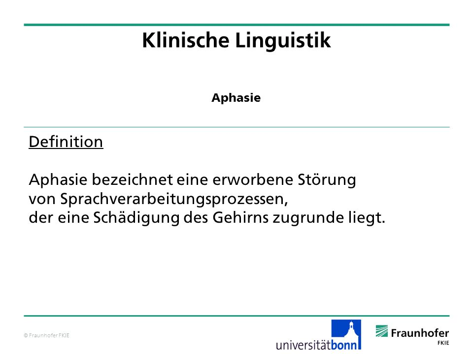 Klinische Linguistik Definition