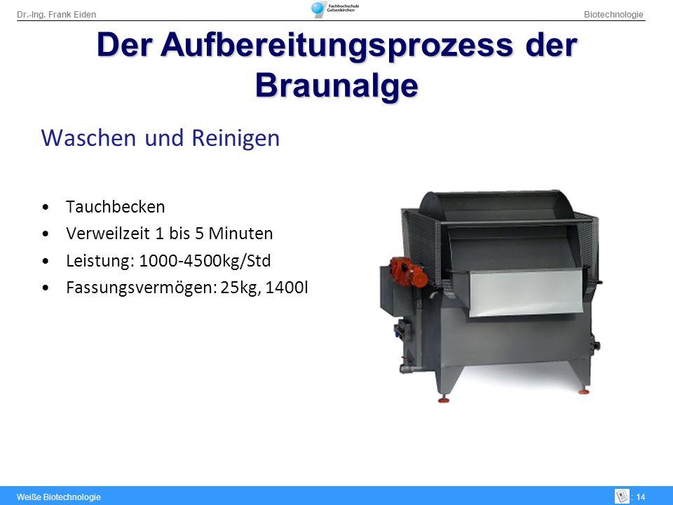 Der Aufbereitungsprozess der Braunalge