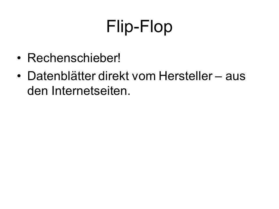 Flip-Flop Rechenschieber!
