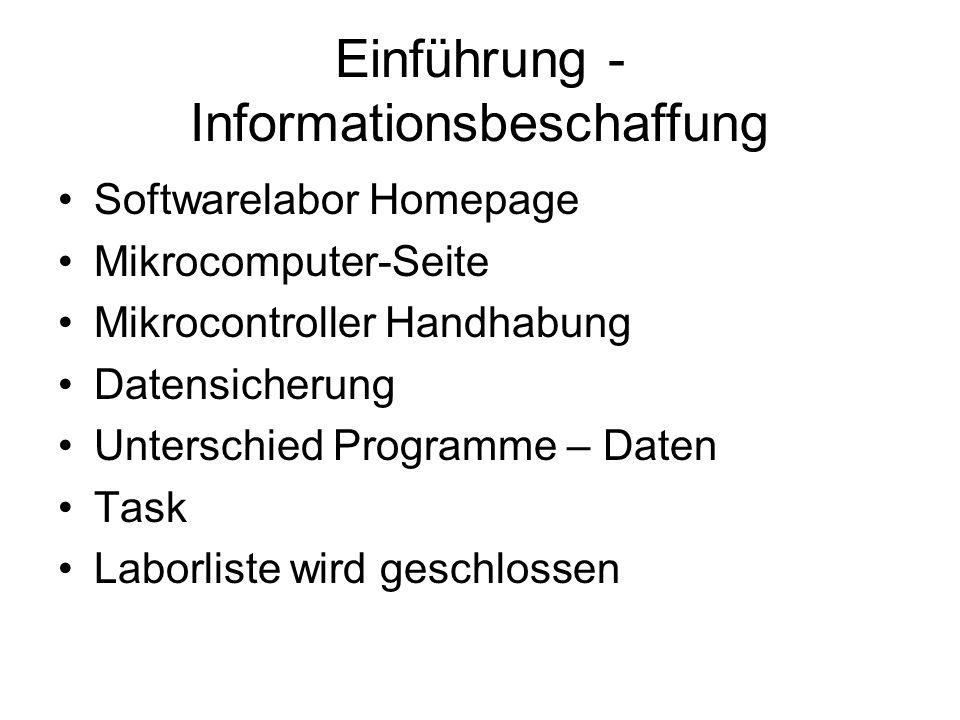 Einführung - Informationsbeschaffung
