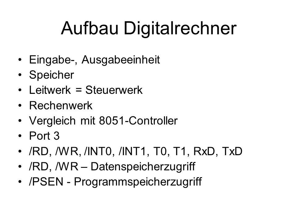 Aufbau Digitalrechner