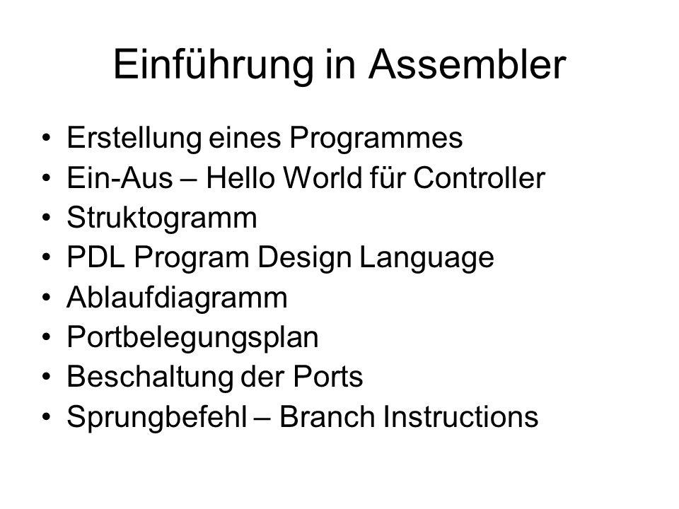 Einführung in Assembler