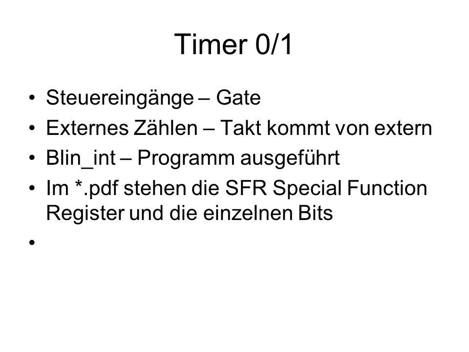 Timer 0/1 Steuereingänge – Gate