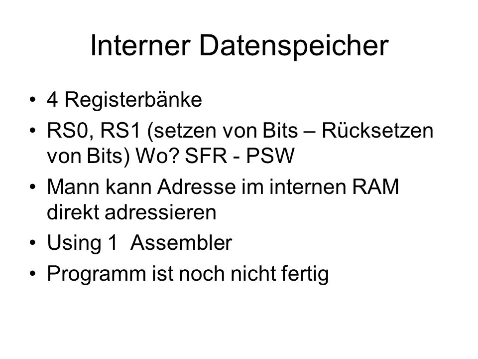 Interner Datenspeicher
