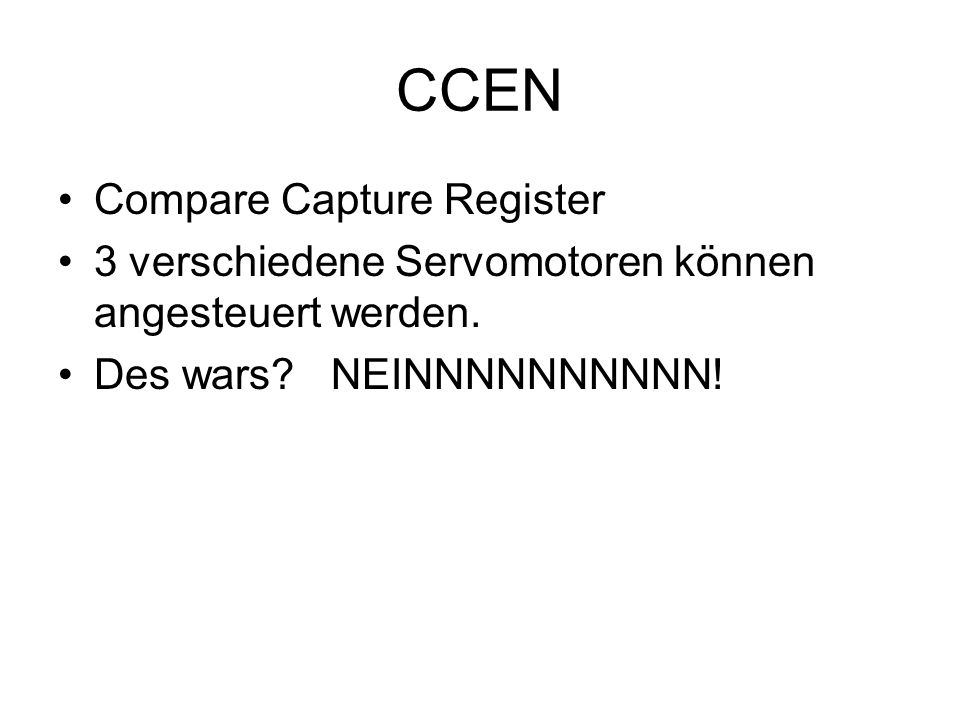 CCEN Compare Capture Register