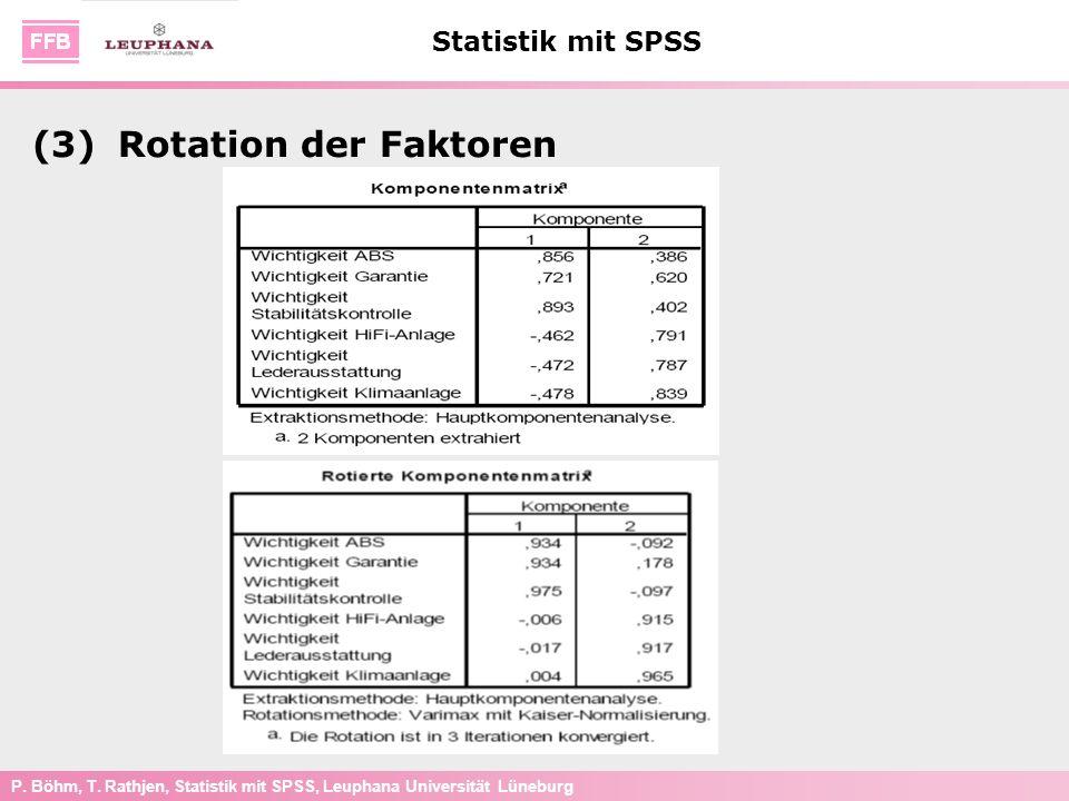 (3) Rotation der Faktoren
