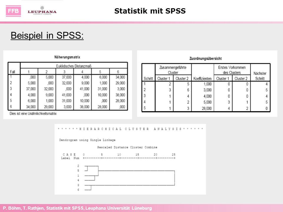 Beispiel in SPSS: