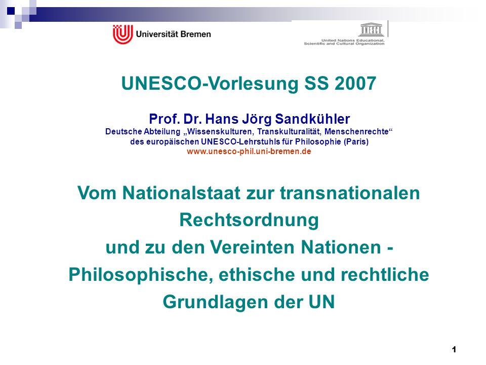 Vom Nationalstaat zur transnationalen Rechtsordnung