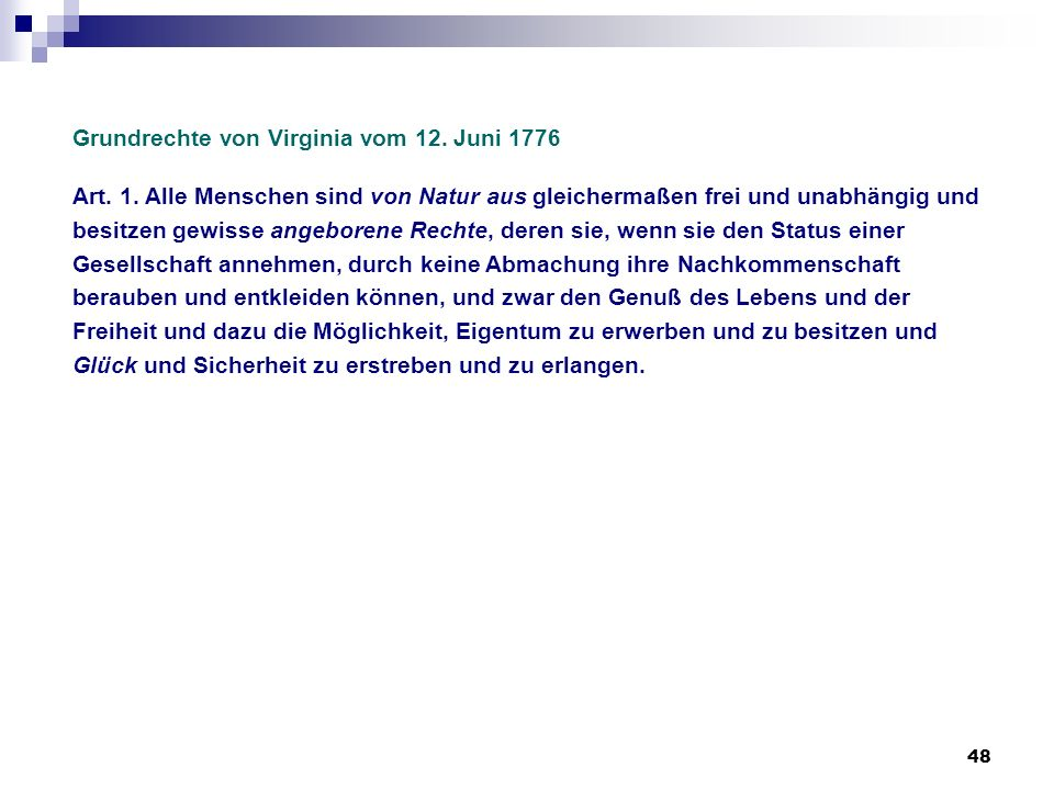 Grundrechte von Virginia vom 12. Juni 1776