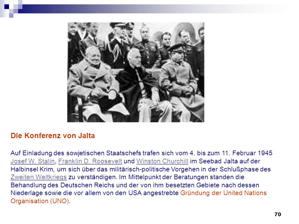 Die Konferenz von Jalta