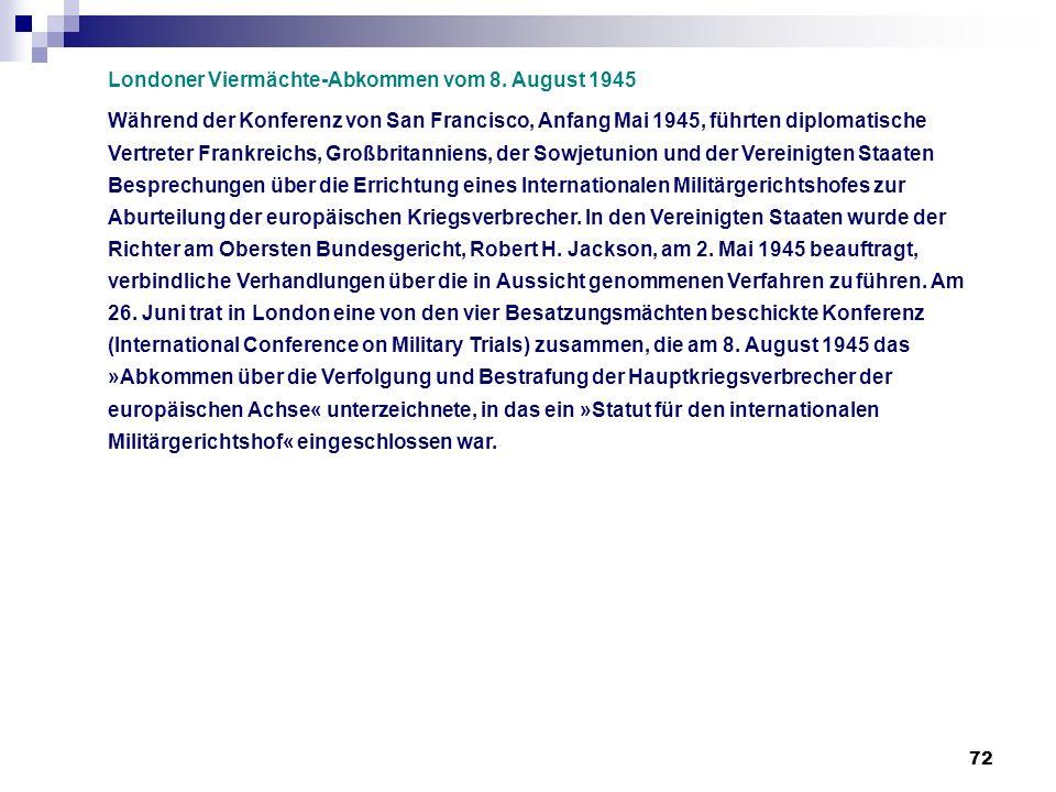 Londoner Viermächte-Abkommen vom 8. August 1945