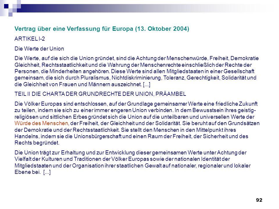 Vertrag über eine Verfassung für Europa (13. Oktober 2004)