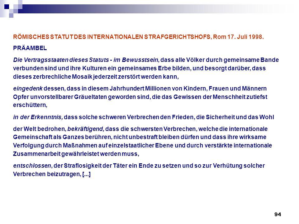 RÖMISCHES STATUT DES INTERNATIONALEN STRAFGERICHTSHOFS, Rom 17