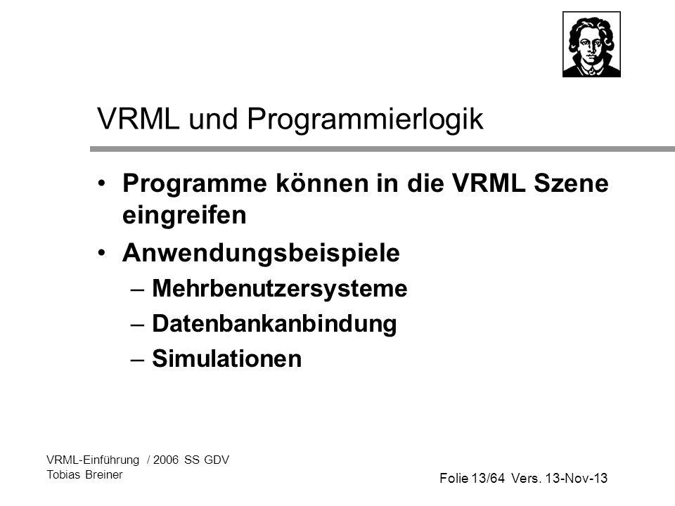 VRML und Programmierlogik