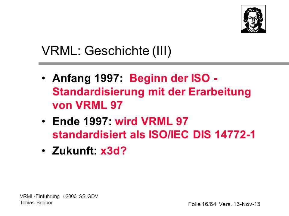 VRML: Geschichte (III)