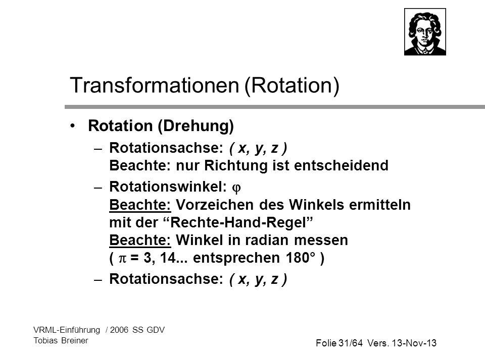 Transformationen (Rotation)