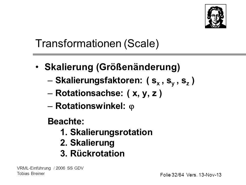 Transformationen (Scale)