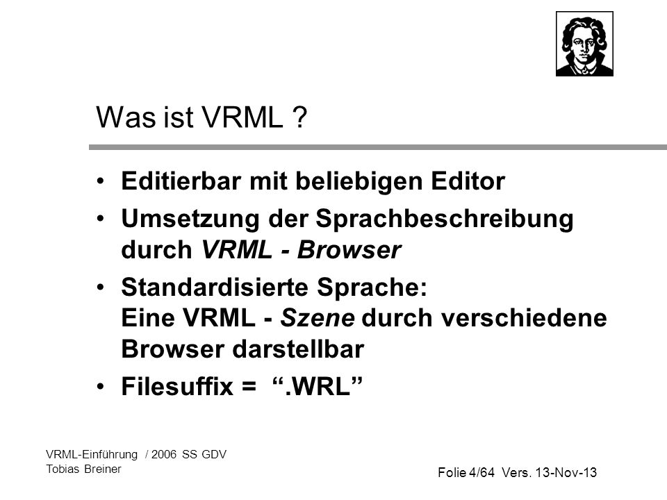 Was ist VRML Editierbar mit beliebigen Editor