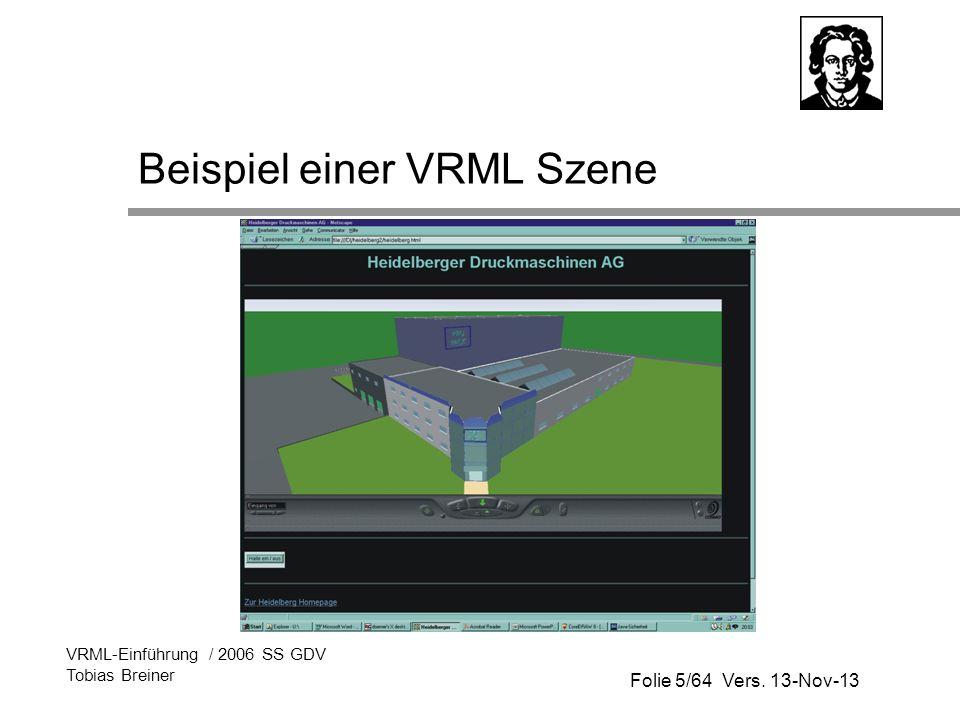 Beispiel einer VRML Szene