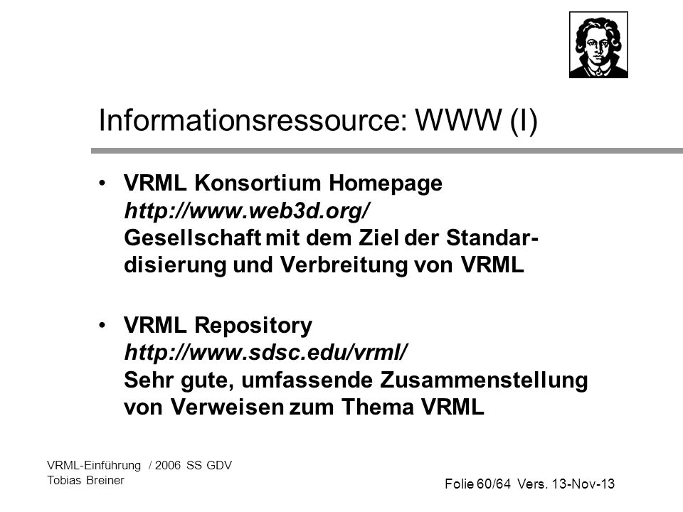 Informationsressource: WWW (I)