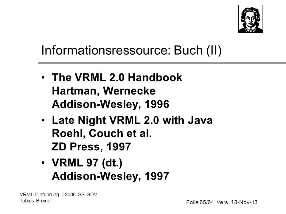 Informationsressource: Buch (II)