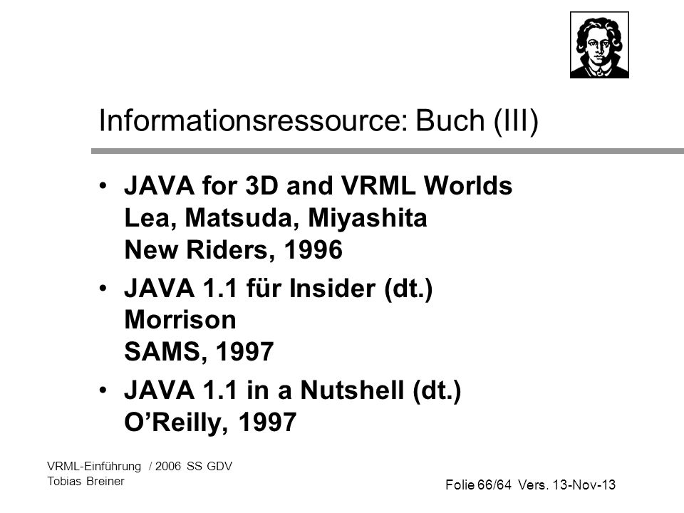 Informationsressource: Buch (III)
