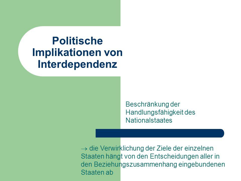 Politische Implikationen von Interdependenz