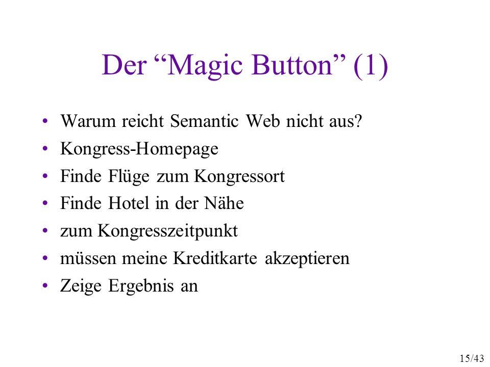 Der Magic Button (1) Warum reicht Semantic Web nicht aus
