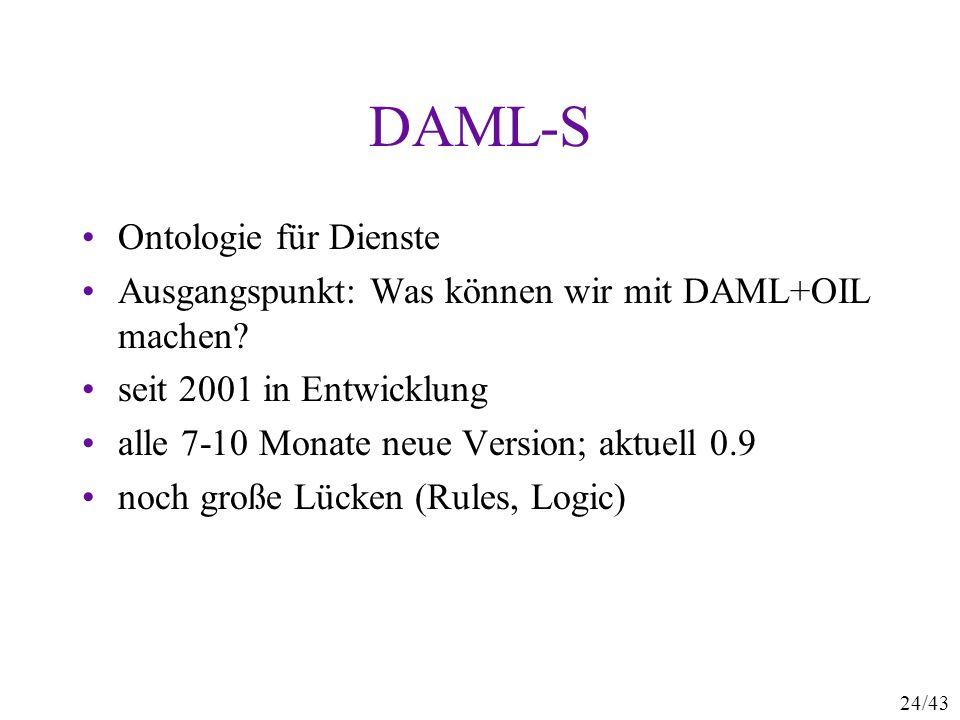 DAML-S Ontologie für Dienste