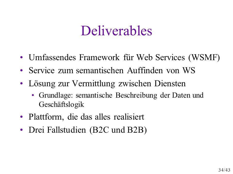 Deliverables Umfassendes Framework für Web Services (WSMF)