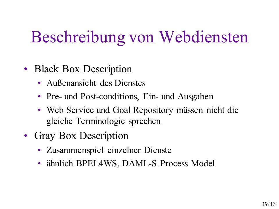 Beschreibung von Webdiensten