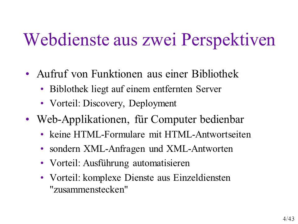 Webdienste aus zwei Perspektiven
